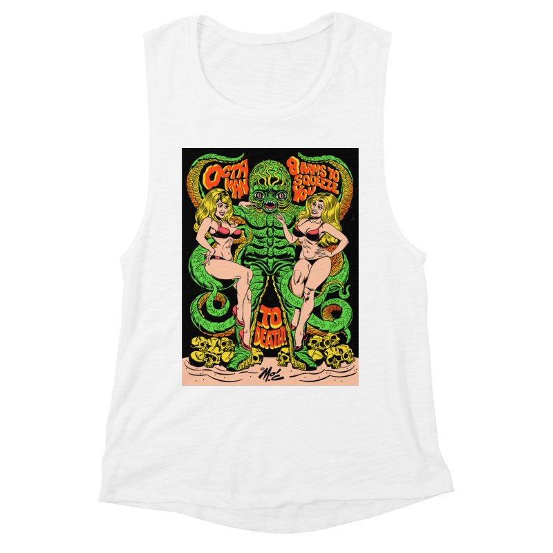 Octaman! Women's Muscle Tank by Mitch O'Connell