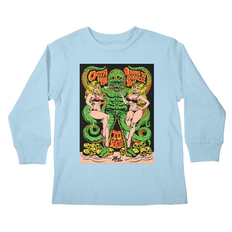 Octaman! Kids Longsleeve T-Shirt by Mitch O'Connell