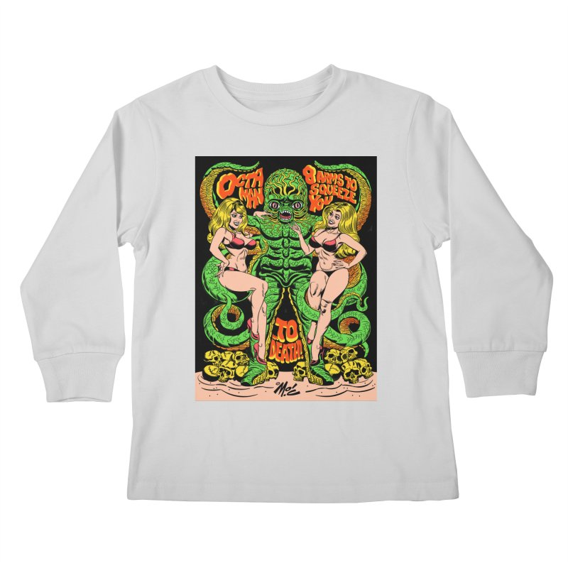 Octaman! Kids Longsleeve T-Shirt by Mitch O'Connell