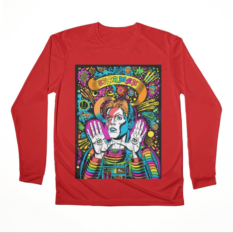 Starman! Women's Performance Unisex Longsleeve T-Shirt by Mitch O'Connell