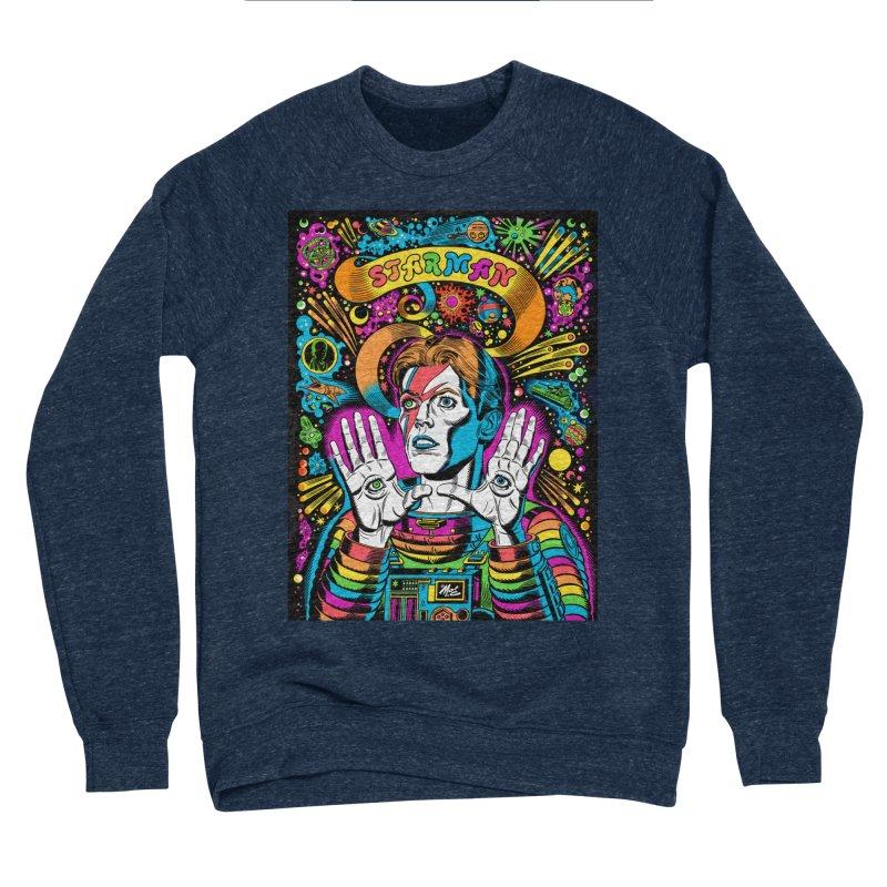 Starman! Men's Sponge Fleece Sweatshirt by Mitch O'Connell