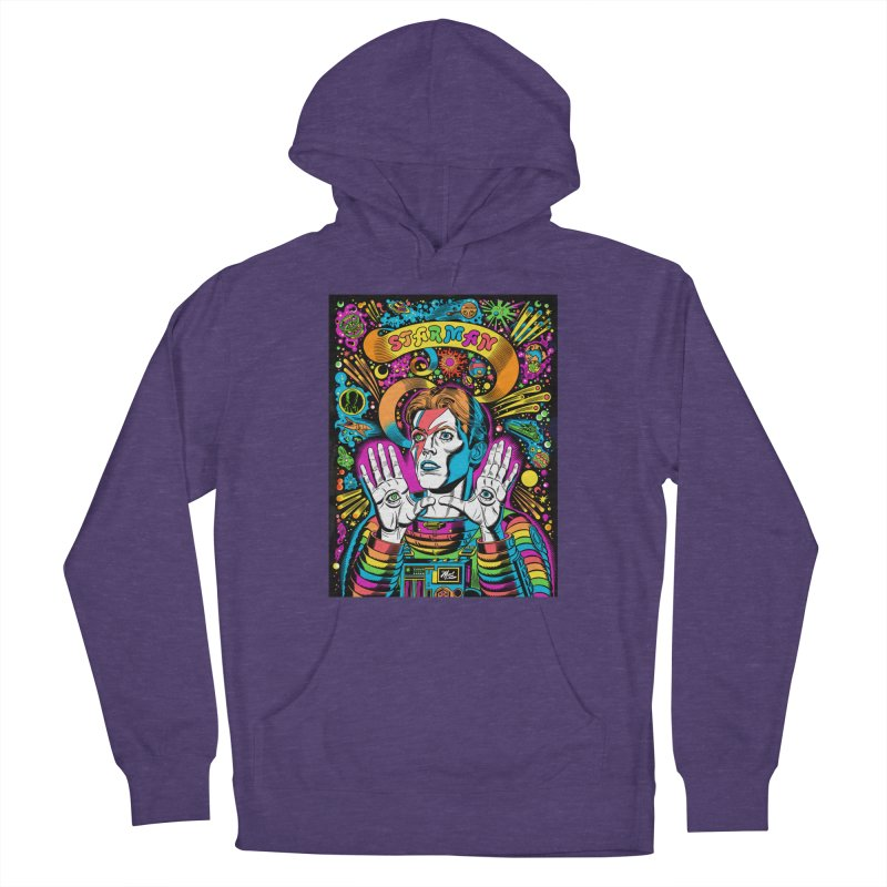 Starman! Women's French Terry Pullover Hoody by Mitch O'Connell