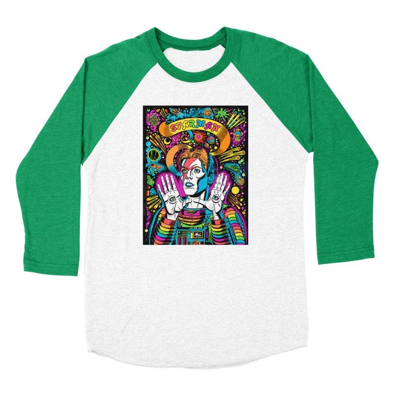 Starman! Men's Baseball Triblend Longsleeve T-Shirt by Mitch O'Connell