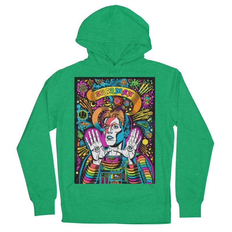 Starman! Men's French Terry Pullover Hoody by Mitch O'Connell