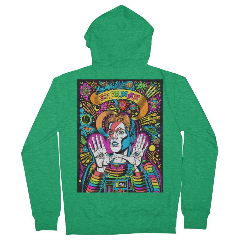 Starman! Women's Zip-Up Hoody by Mitch O'Connell