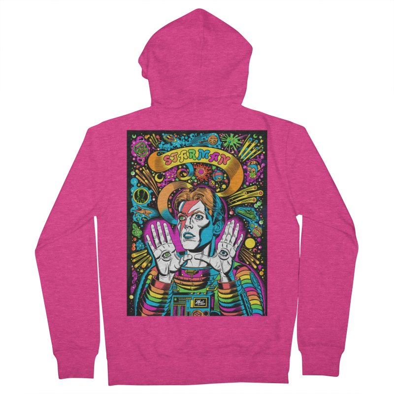 Starman! Women's French Terry Zip-Up Hoody by Mitch O'Connell