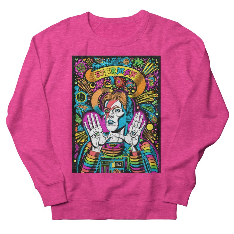 Starman! Women's French Terry Sweatshirt by Mitch O'Connell