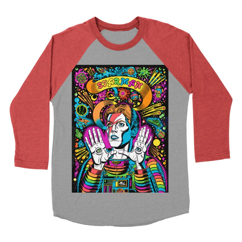 Starman! Women's Baseball Triblend Longsleeve T-Shirt by Mitch O'Connell