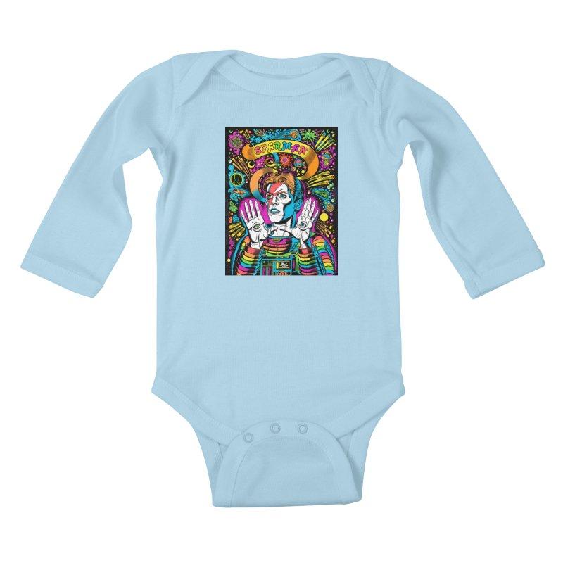 Starman! Kids Baby Longsleeve Bodysuit by Mitch O'Connell