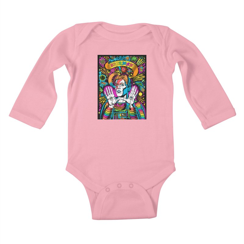 Starman! Kids Baby Longsleeve Bodysuit by Mitch O'Connell