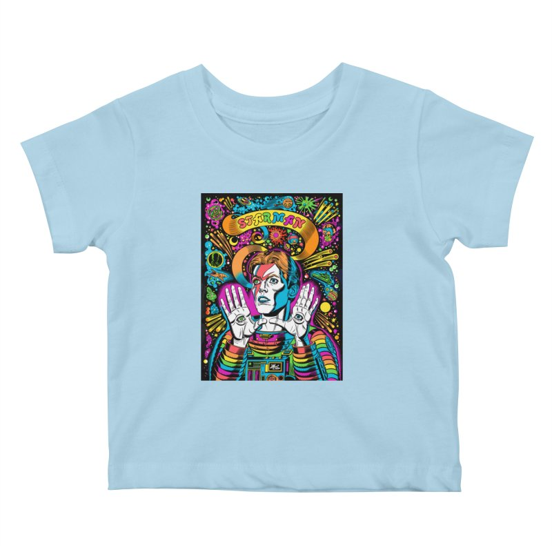 Starman! Kids Baby T-Shirt by Mitch O'Connell