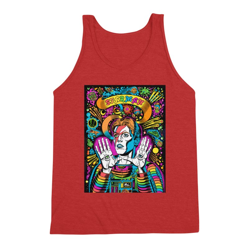 Starman! Men's Triblend Tank by Mitch O'Connell