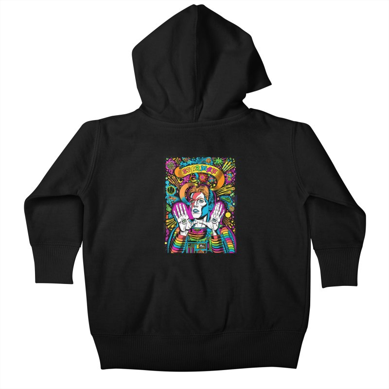 Starman! Kids Baby Zip-Up Hoody by Mitch O'Connell