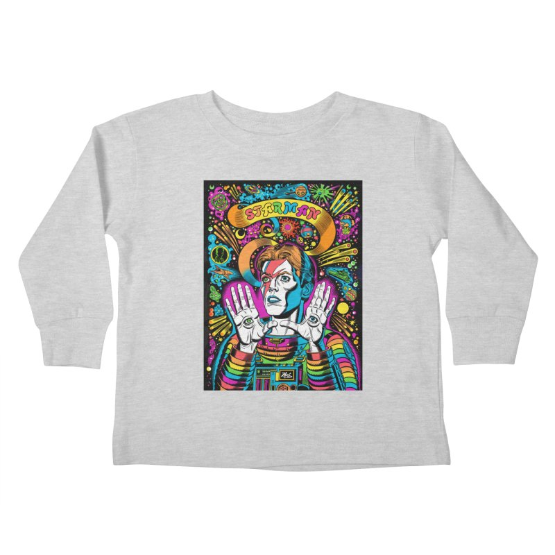 Starman! Kids Toddler Longsleeve T-Shirt by Mitch O'Connell