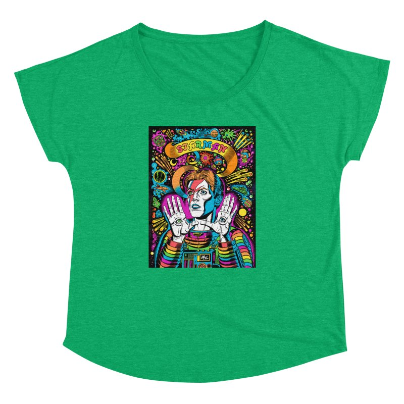 Starman! Women's Dolman Scoop Neck by Mitch O'Connell