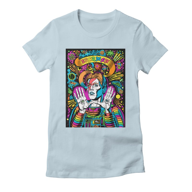 Starman! Women's Fitted T-Shirt by Mitch O'Connell