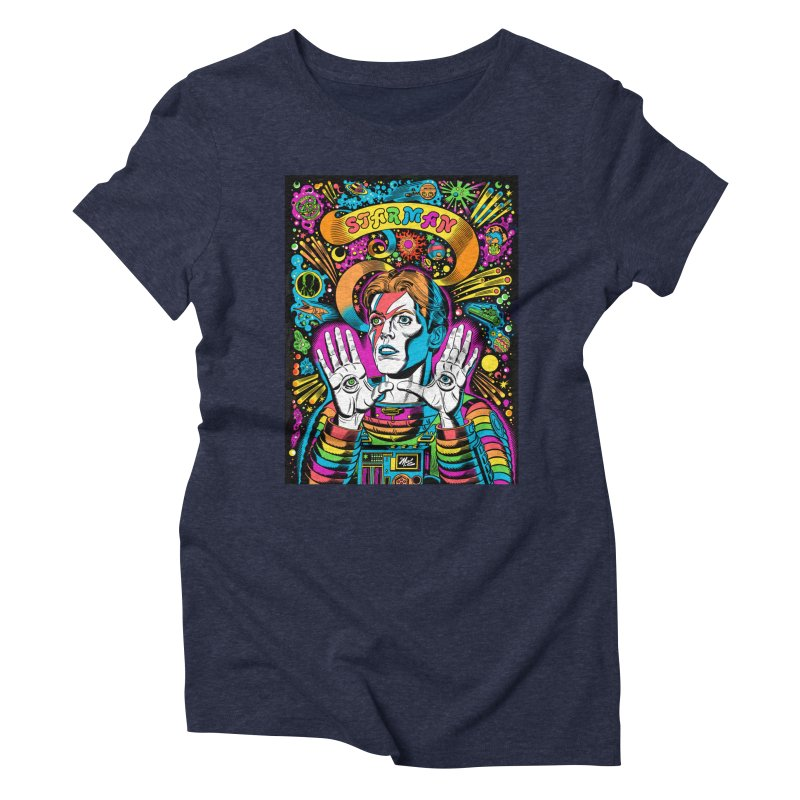 Starman! Women's Triblend T-Shirt by Mitch O'Connell