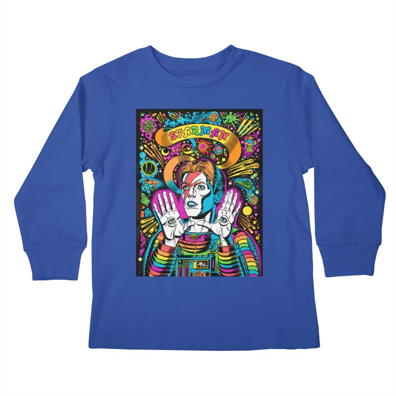 Starman! Kids Longsleeve T-Shirt by Mitch O'Connell