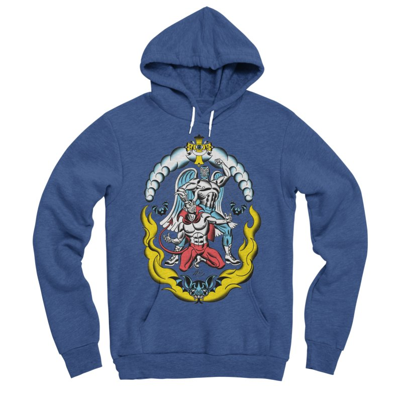 Good Always Triumphs! Men's Sponge Fleece Pullover Hoody by Mitch O'Connell