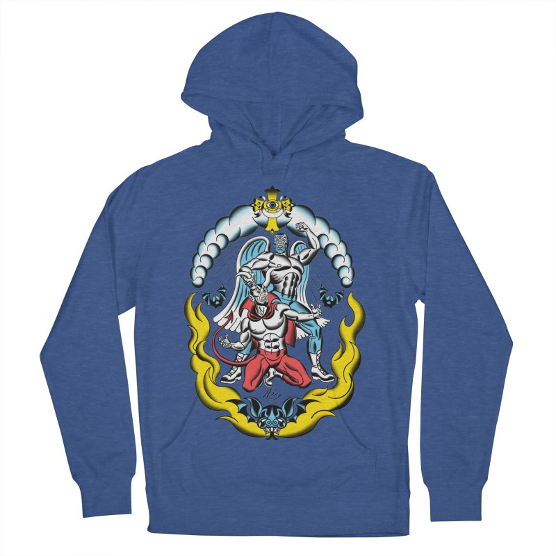 Good Always Triumphs! Men's French Terry Pullover Hoody by Mitch O'Connell