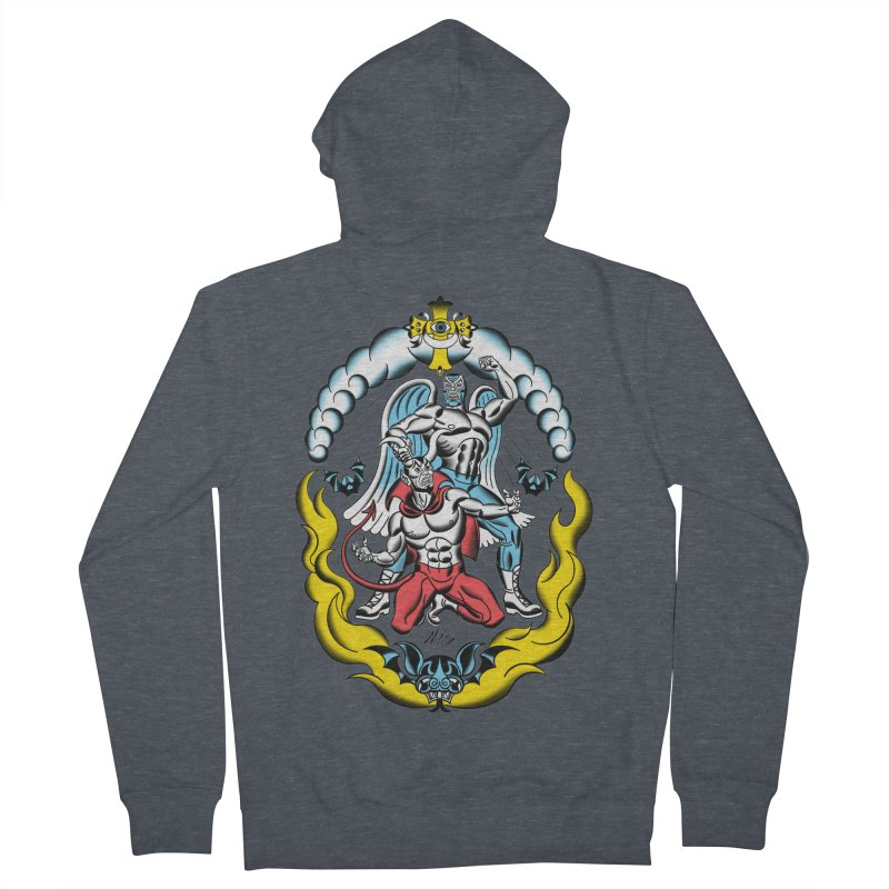 Good Always Triumphs! Women's French Terry Zip-Up Hoody by Mitch O'Connell