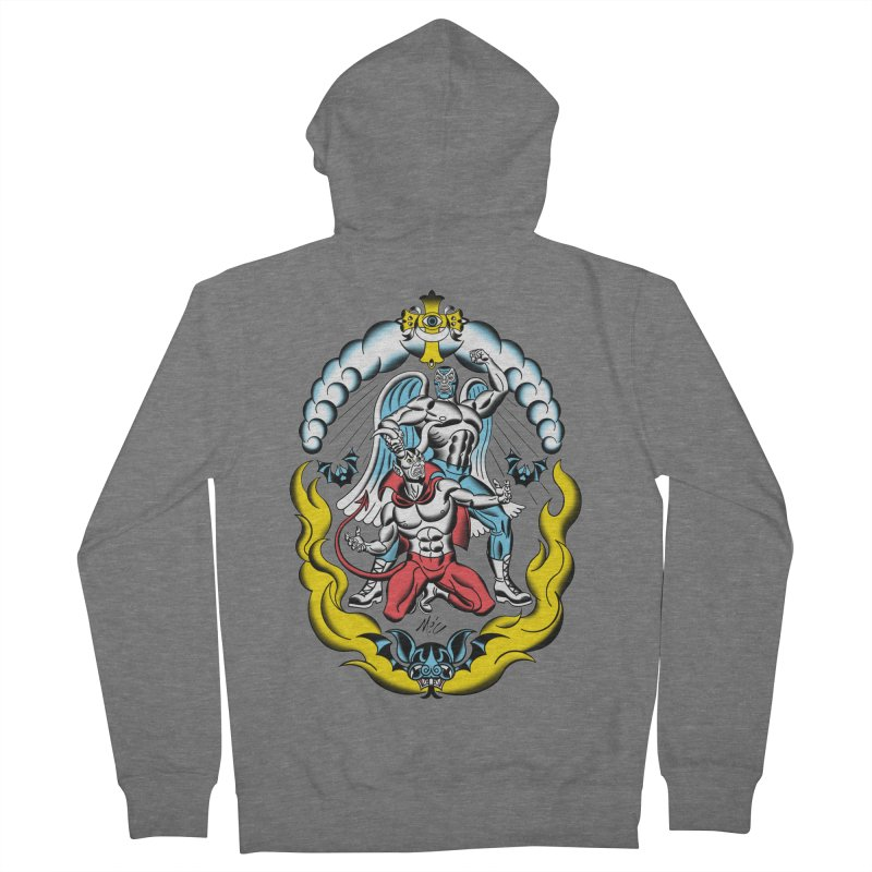 Good Always Triumphs! Men's French Terry Zip-Up Hoody by Mitch O'Connell