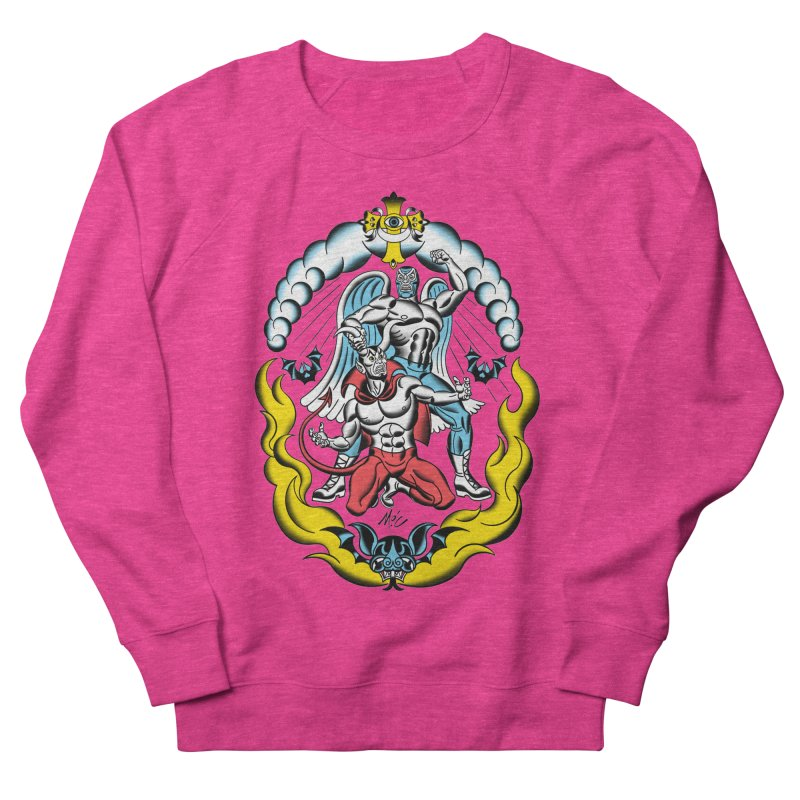 Good Always Triumphs! Men's French Terry Sweatshirt by Mitch O'Connell