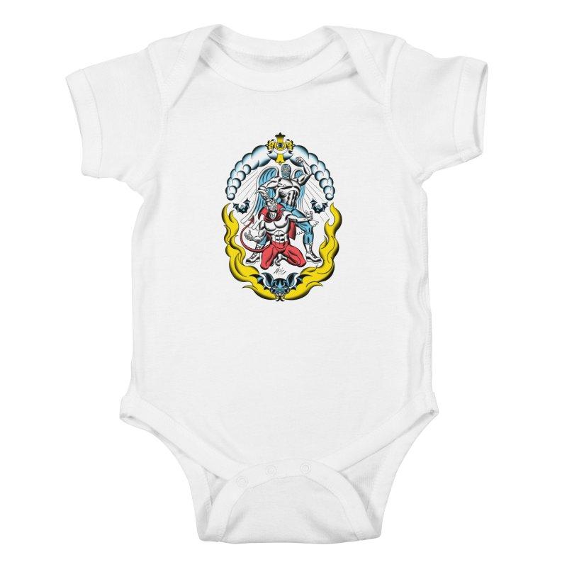 Good Always Triumphs! Kids Baby Bodysuit by Mitch O'Connell
