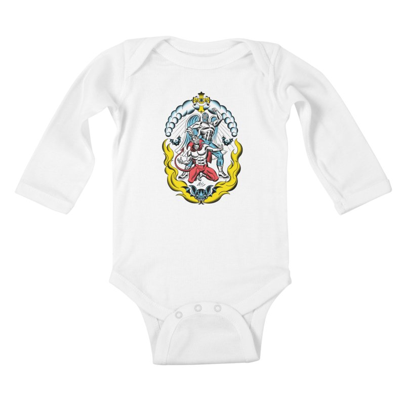 Good Always Triumphs! Kids Baby Longsleeve Bodysuit by Mitch O'Connell