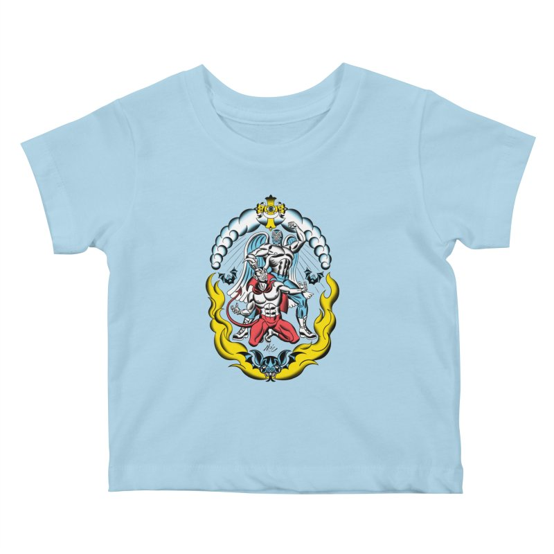 Good Always Triumphs! Kids Baby T-Shirt by Mitch O'Connell