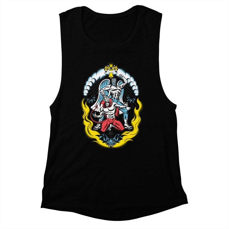 Good Always Triumphs! Women's Muscle Tank by Mitch O'Connell