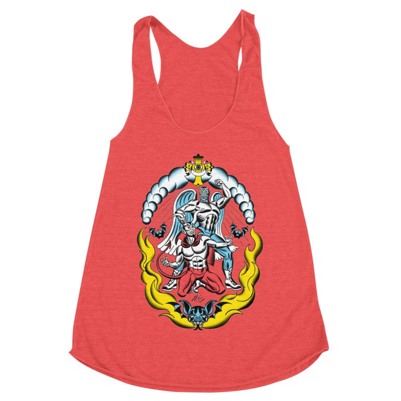 Good Always Triumphs! Women's Racerback Triblend Tank by Mitch O'Connell
