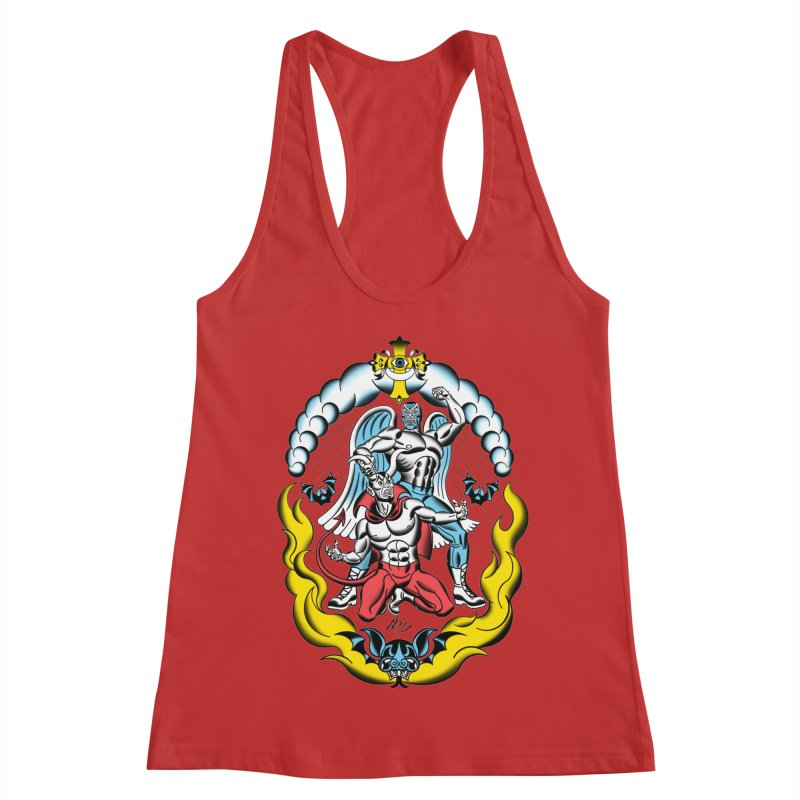Good Always Triumphs! Women's Racerback Tank by Mitch O'Connell