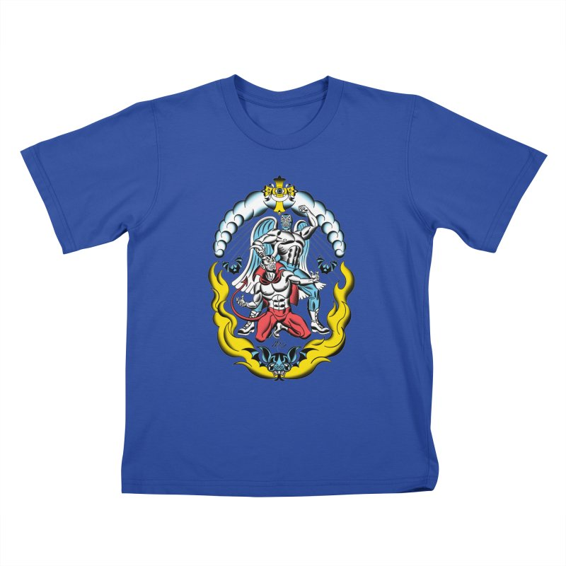 Good Always Triumphs! Kids T-Shirt by Mitch O'Connell