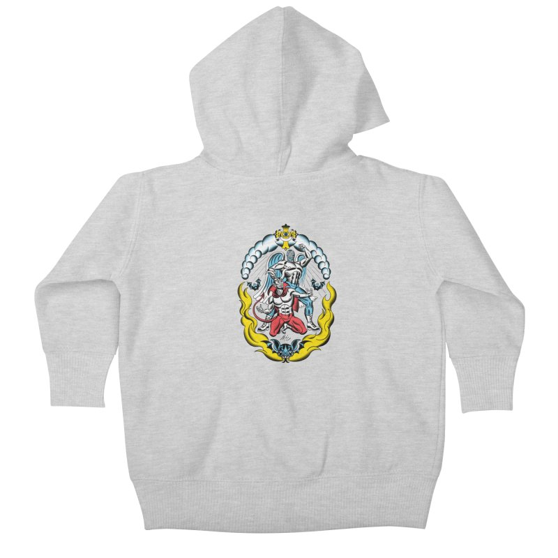 Good Always Triumphs! Kids Baby Zip-Up Hoody by Mitch O'Connell