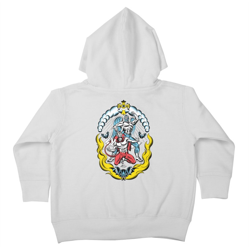 Good Always Triumphs! Kids Toddler Zip-Up Hoody by Mitch O'Connell