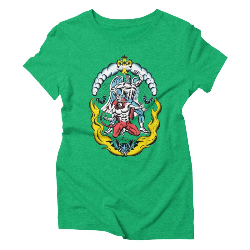 Good Always Triumphs! Women's Triblend T-Shirt by Mitch O'Connell