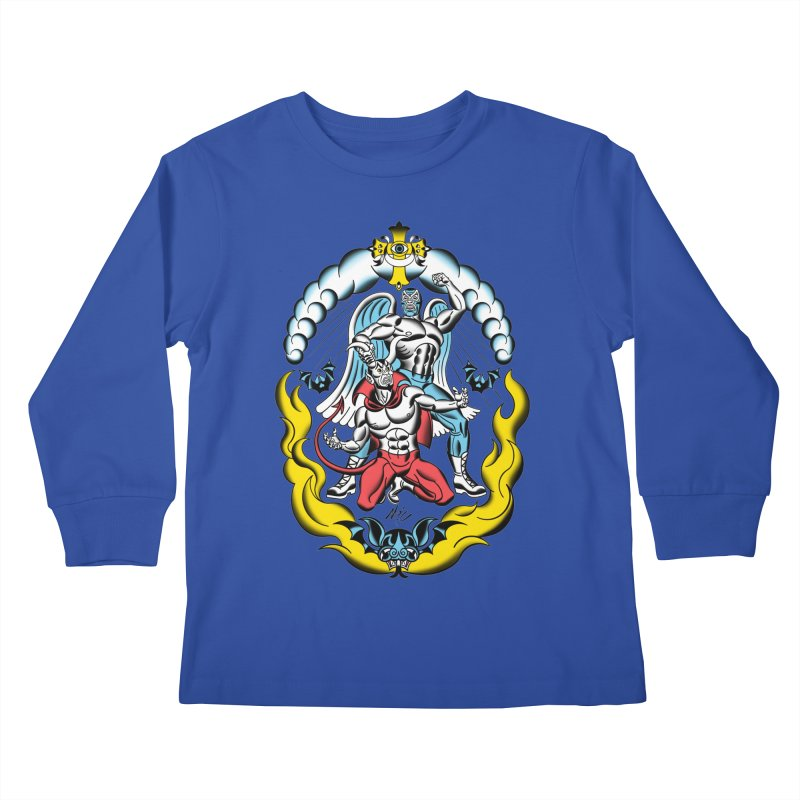 Good Always Triumphs! Kids Longsleeve T-Shirt by Mitch O'Connell