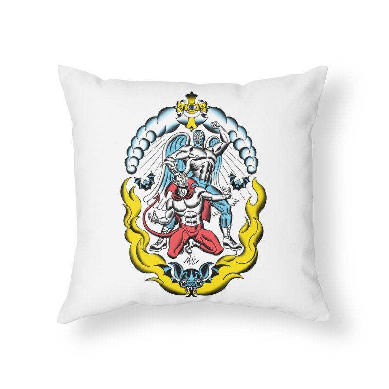 Good Always Triumphs! Home Throw Pillow by Mitch O'Connell