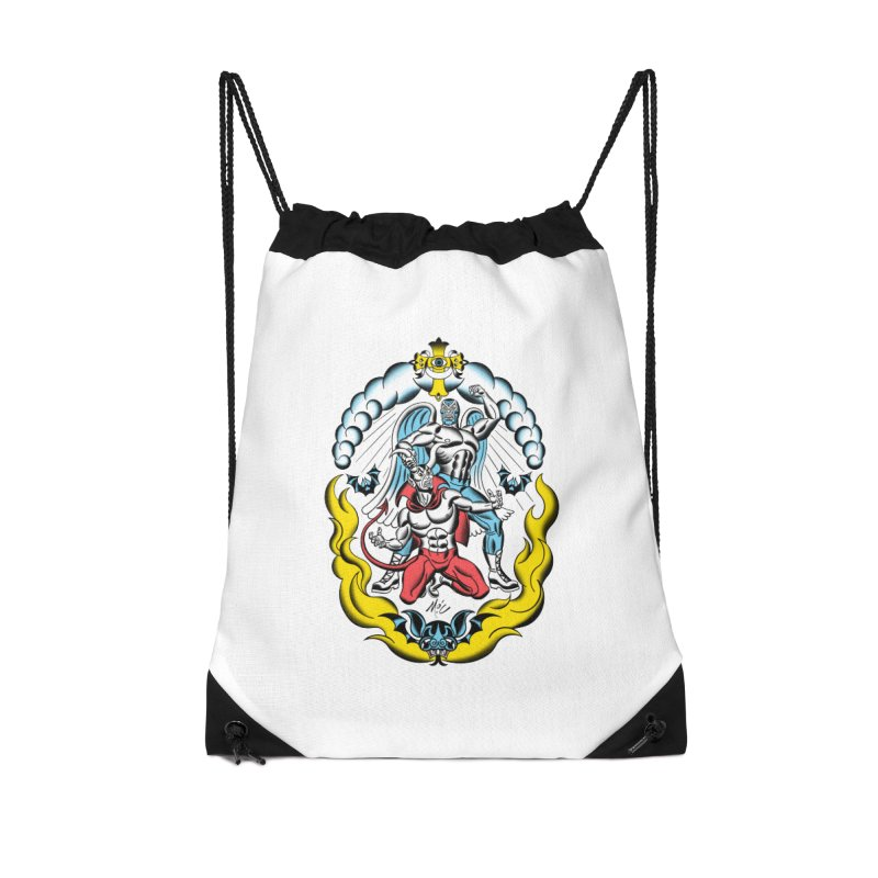Good Always Triumphs! Accessories Drawstring Bag Bag by Mitch O'Connell