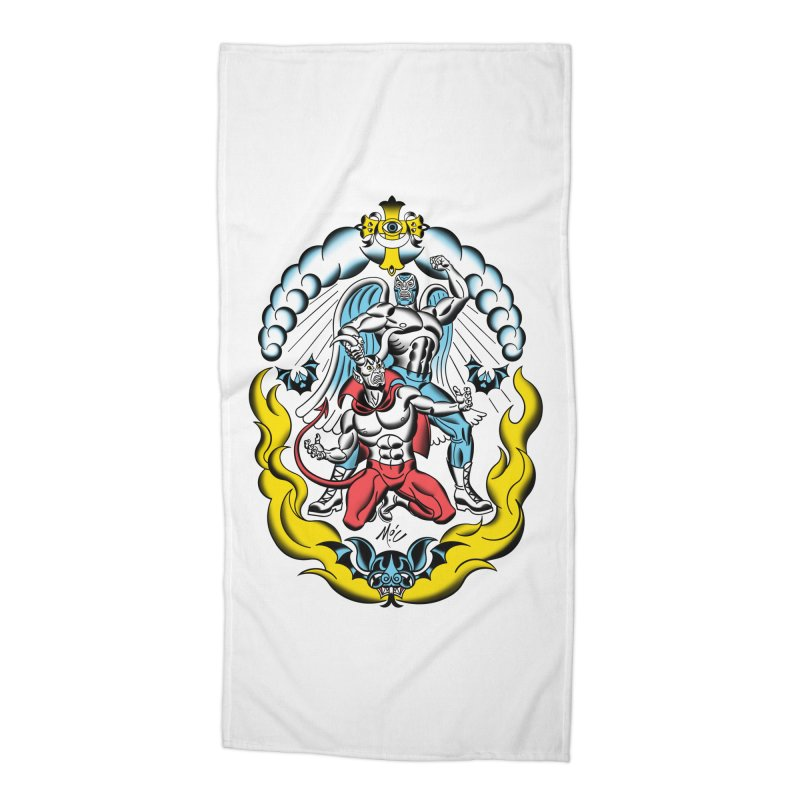 Good Always Triumphs! Accessories Beach Towel by Mitch O'Connell