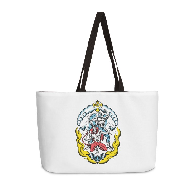 Good Always Triumphs! Accessories Weekender Bag Bag by Mitch O'Connell