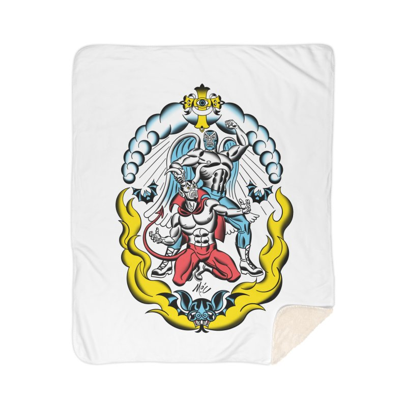 Good Always Triumphs! Home Sherpa Blanket Blanket by Mitch O'Connell