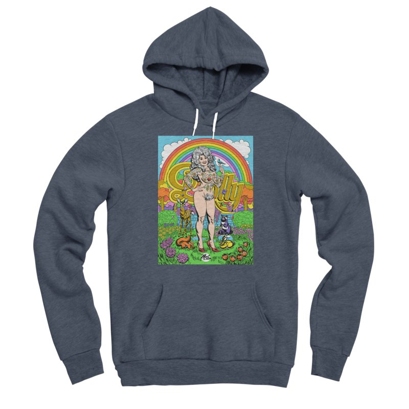 Tattooed Dolly! Men's Sponge Fleece Pullover Hoody by Mitch O'Connell