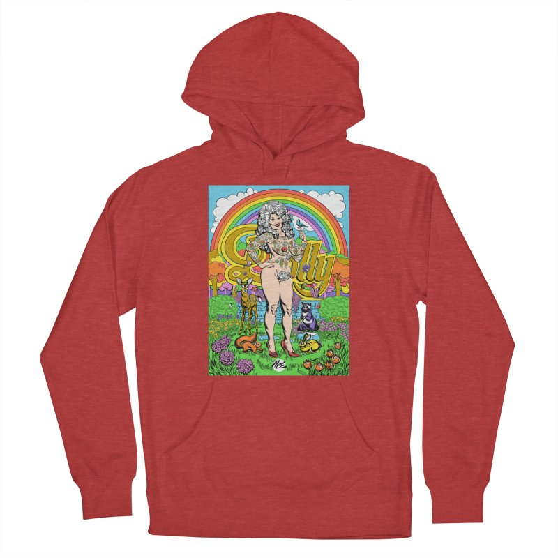 Tattooed Dolly! Men's French Terry Pullover Hoody by Mitch O'Connell