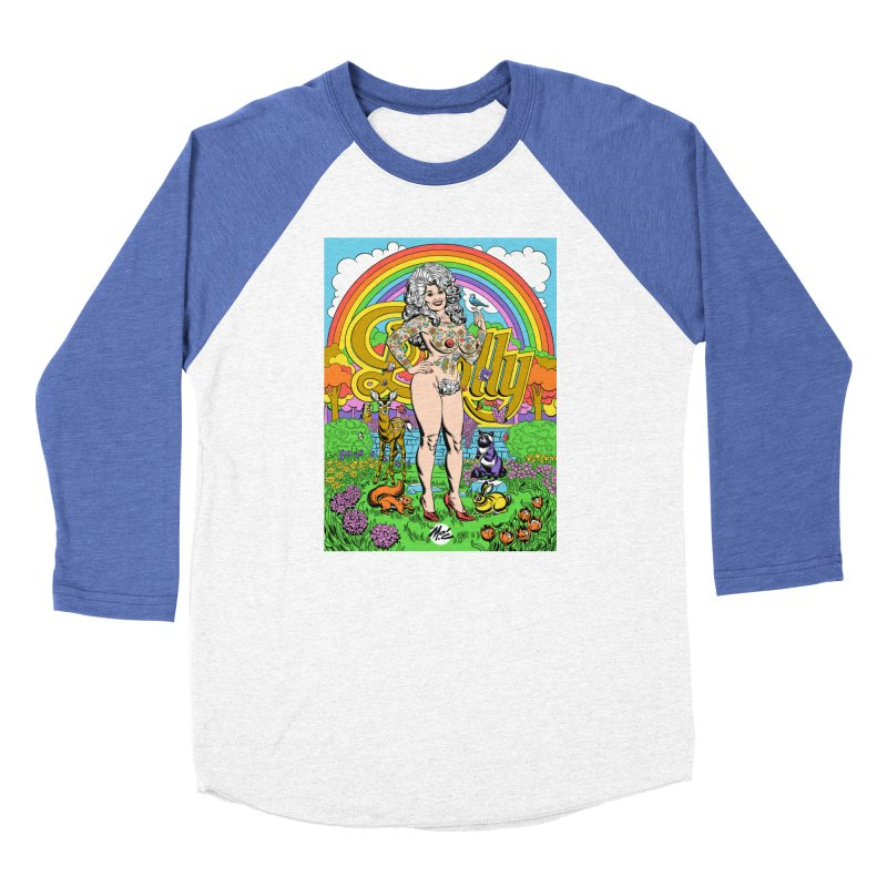 Tattooed Dolly! Women's Baseball Triblend Longsleeve T-Shirt by Mitch O'Connell