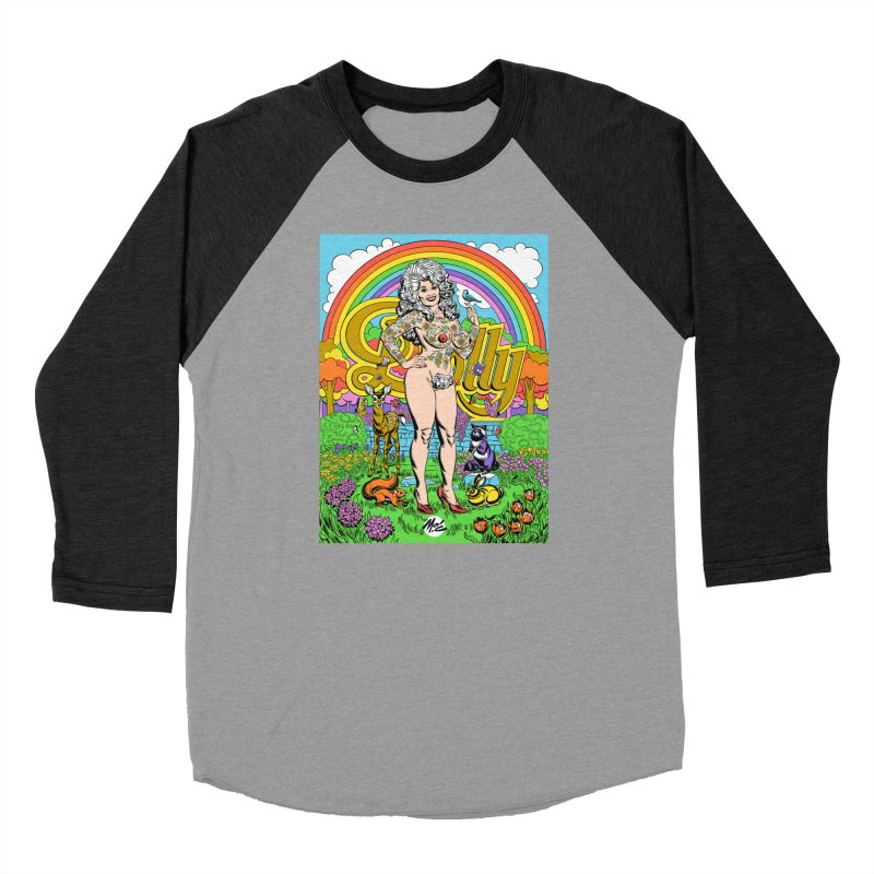 Tattooed Dolly! Men's Baseball Triblend Longsleeve T-Shirt by Mitch O'Connell
