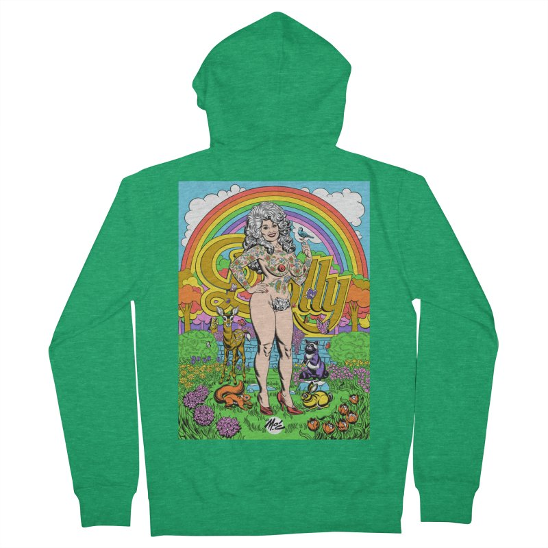 Tattooed Dolly! Men's Zip-Up Hoody by Mitch O'Connell