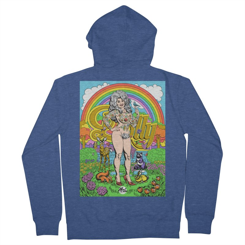 Tattooed Dolly! Men's French Terry Zip-Up Hoody by Mitch O'Connell