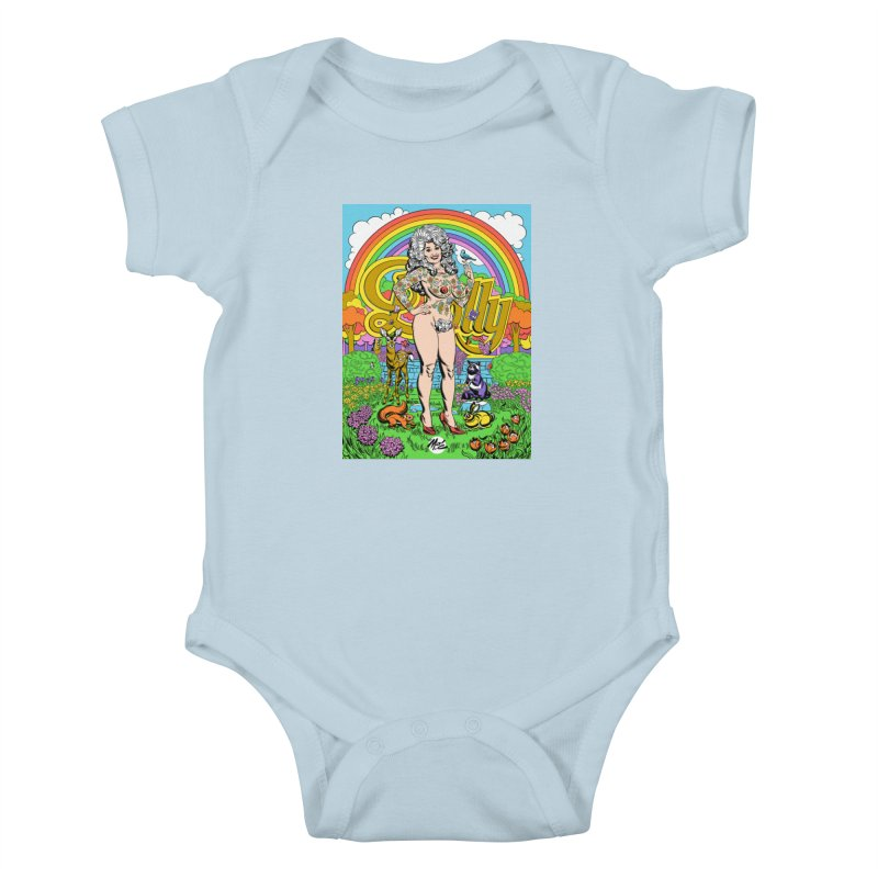 Tattooed Dolly! Kids Baby Bodysuit by Mitch O'Connell